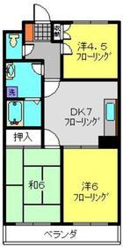 カディール二俣川2階Fの間取り画像