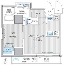 グラン,フォークス神田イーストタワー12階Fの間取り画像
