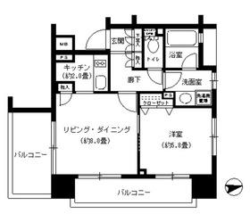パークキューブ浅草田原町2階Fの間取り画像