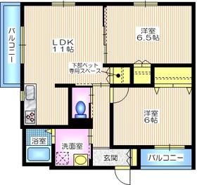 ピアナ ステラ2階Fの間取り画像