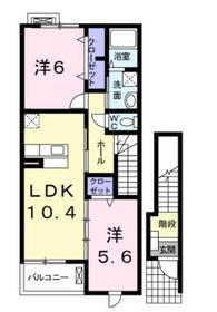 ラフィネメゾンⅠ2階Fの間取り画像