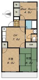 シャトレーサチ1階Fの間取り画像