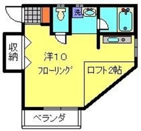 カームハイツ1階Fの間取り画像