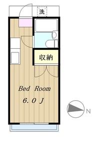 鶴間駅 徒歩8分2階Fの間取り画像