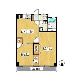 学園スカイマンション3階Fの間取り画像