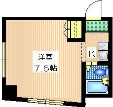 グランドール・タカラ5階Fの間取り画像