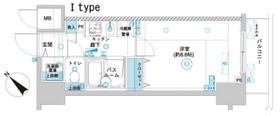 フェニックス横濱関内BAY GAIA6階Fの間取り画像