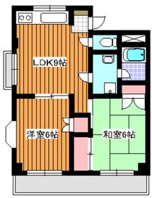 新高島平駅 徒歩21分2階Fの間取り画像