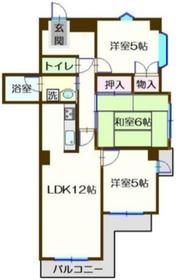 ティーコートさき4階Fの間取り画像