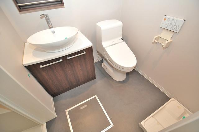 ドゥエマーニ楠根 清潔感のある爽やかなトイレ。誰もがリラックスできる空間です。