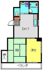 ラフィネ・K1階Fの間取り画像