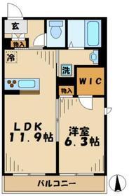 ミリア五月台WEST ミリアサツキダイウエスト2階Fの間取り画像