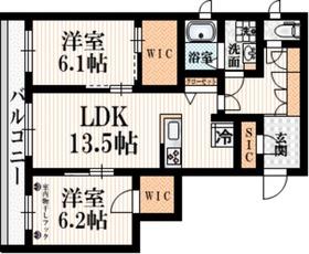 (仮称)八幡山1丁目レジデンス2階Fの間取り画像