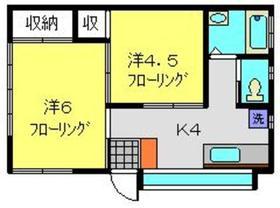 横田荘2階Fの間取り画像