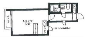 グラスウォール2階Fの間取り画像