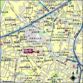 アパートメンツ元麻布内田坂案内図