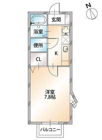 メゾン・ド・アイム : 2階間取図