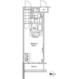 ザ・パークハビオ高円寺(ザ・パークハビオコウエンジ)4階Fの間取り画像