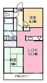 ライリッヒ・フーガ2階Fの間取り画像