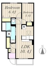 リベルタ1階Fの間取り画像