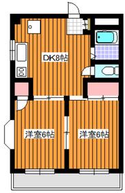 スカイハイツ脇坂1階Fの間取り画像