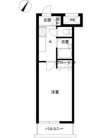 スカイコート神田8階Fの間取り画像