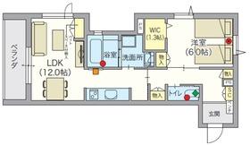 (シニア限定)アルモニーレジダンス氷川台4階Fの間取り画像