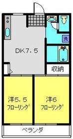 武蔵小杉駅 徒歩27分3階Fの間取り画像