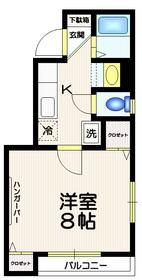 コラール幡ヶ谷2階Fの間取り画像