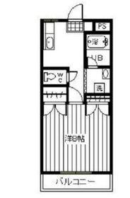 メゾンヤマサキ1階Fの間取り画像