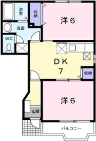 フォンティーヌ1階Fの間取り画像