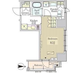 パークアクシス白金3階Fの間取り画像