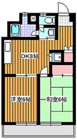 アドバンス和光4階Fの間取り画像