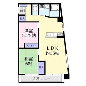 木村ビル4階Fの間取り画像