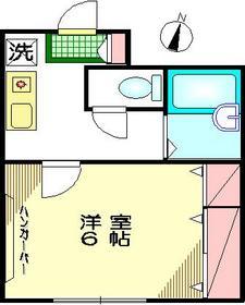 ドミールユタカ1階Fの間取り画像