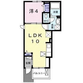 新小平駅 徒歩22分1階Fの間取り画像