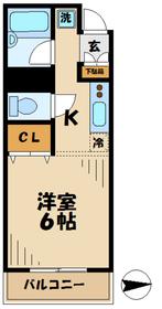 コアOK3 コアオーケースリー8階Fの間取り画像