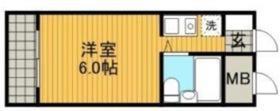 キャッスルマンション橋本4階Fの間取り画像