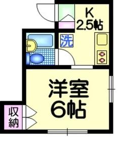 メゾン田嶋1階Fの間取り画像