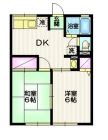 シティハイム エスポワールA2階Fの間取り画像