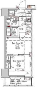 ラフィスタ川崎Ⅵ11階Fの間取り画像