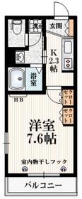 メゾン・ド・シチリアーノ1階Fの間取り画像