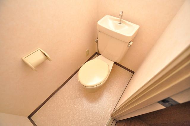 ローズガーデンCOMO 清潔感のある爽やかなトイレ。誰もがリラックスできる空間です。
