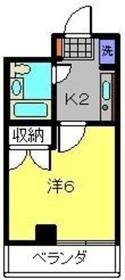 アジュール片倉3階Fの間取り画像
