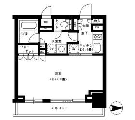 パークキューブ神田8階Fの間取り画像