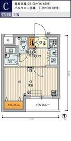 スカイコート池袋西弐番館5階Fの間取り画像