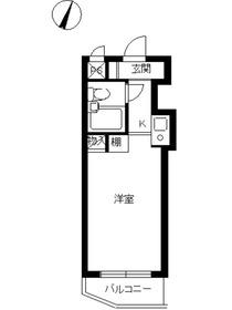 スカイコート千歳烏山第32階Fの間取り画像