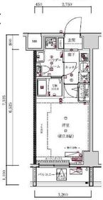 スパシエソリデ横浜鶴見7階Fの間取り画像