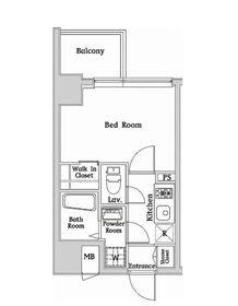 ハーモニーレジデンス西麻布2階Fの間取り画像