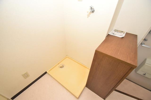 ポプルスONE 嬉しい室内洗濯機置場。これで洗濯機も長持ちしますね。